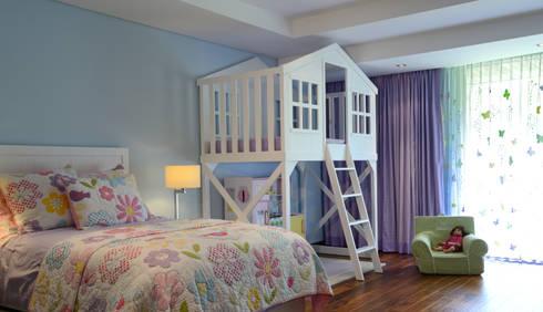 Recamaras infantiles: Habitaciones infantiles de estilo  por VICTORIA PLASENCIA INTERIORISMO