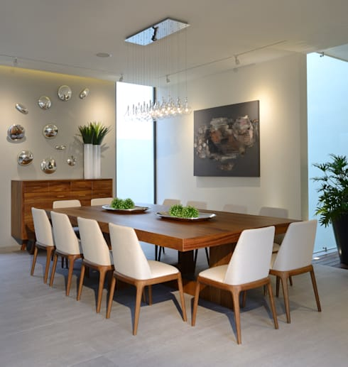 Dining room by VICTORIA PLASENCIA INTERIORISMO