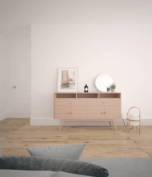 Livings de estilo escandinavo por Bade interiorismo