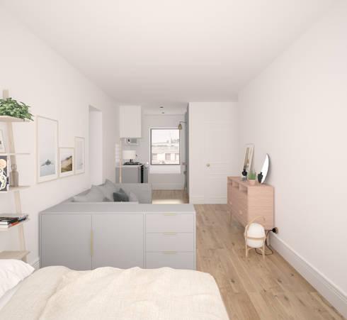 Dormitorios de estilo escandinavo por Bade interiorismo