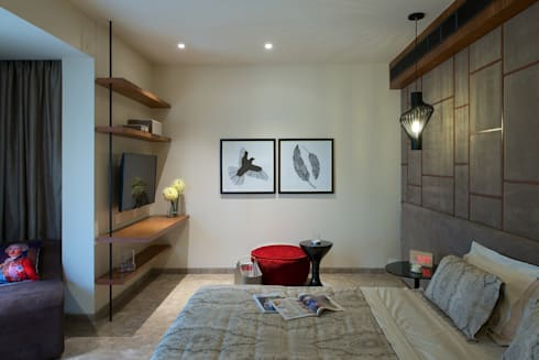 CE Apartment : modern Media room by KdnD Studio LLP