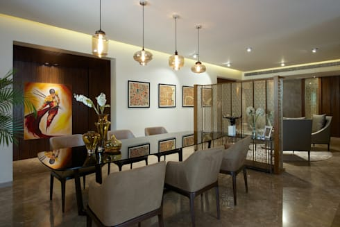 CE Apartment : modern Dining room by KdnD Studio LLP