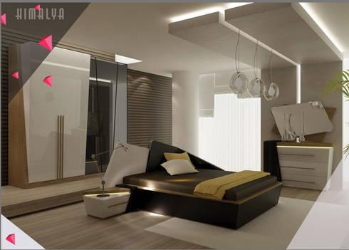 Gllamor Himalaya Brown bedroom: modern Bedroom by Gllamor