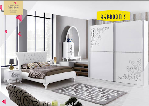 Gllamor Sedef Bedroom set: modern Bedroom by Gllamor