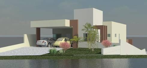 Residência Contemporânea: Casas modernas por Henrique Thomaz Arquitetura e Interiores