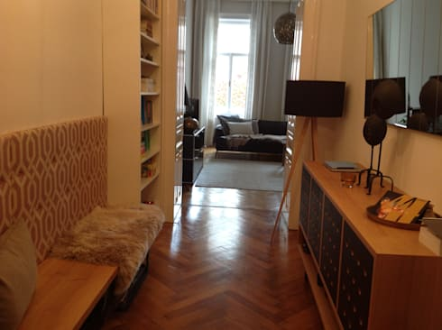 altbauwohnung, wohnzimmer und vorraum von siegl interior designs, Innenarchitektur ideen