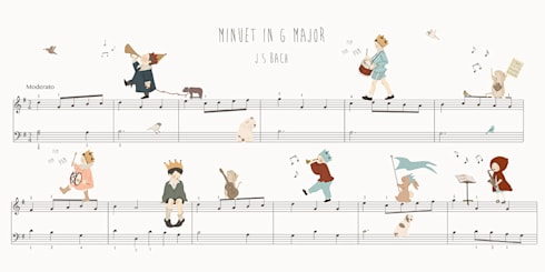 Minuet in G Major: Parede e piso  por Little Hands