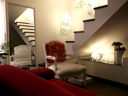 "LUZ/SOMBRA - ""Loft concept"": Salas de estar modernas por IVOMAIA [DESIGNERS]"