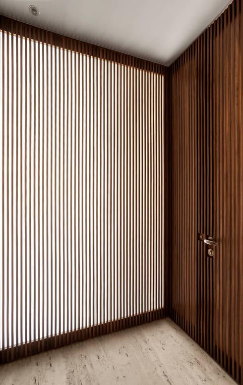 Hall Social: Corredores e halls de entrada  por Fabio Rudnik Arquitetura