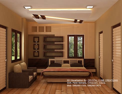 a bed room project : modern Bedroom by M Design