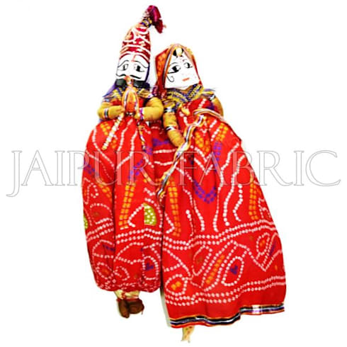 Rajasthani Handmade Puppets:  Artwork by Jaipur Fabric