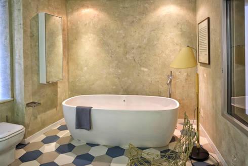 Ambienti finiture parietali con intonaci antichi di tre for Sala da bagno design