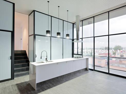 Interior 3: Cocina de estilo  por Proyecto Cafeina