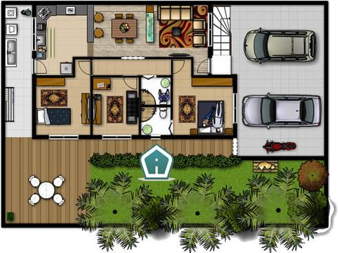 Spaccati e planimetrie di 3d casa design homify for Planimetrie di case di piccoli laghi
