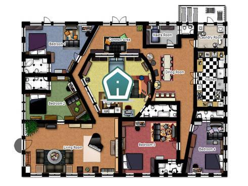 Spaccati e planimetrie by 3d casa design homify for Open plan planimetrie
