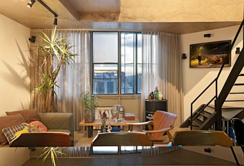 Loft Funcionários: Salas de jantar modernas por Dubal Arquitetura e Design