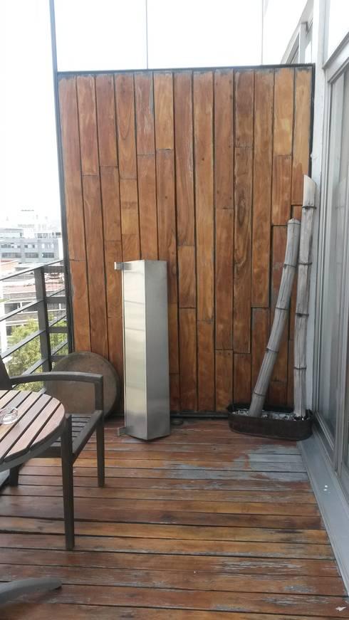 ANTES, Terraza:  de estilo  por Purista Interiorismo