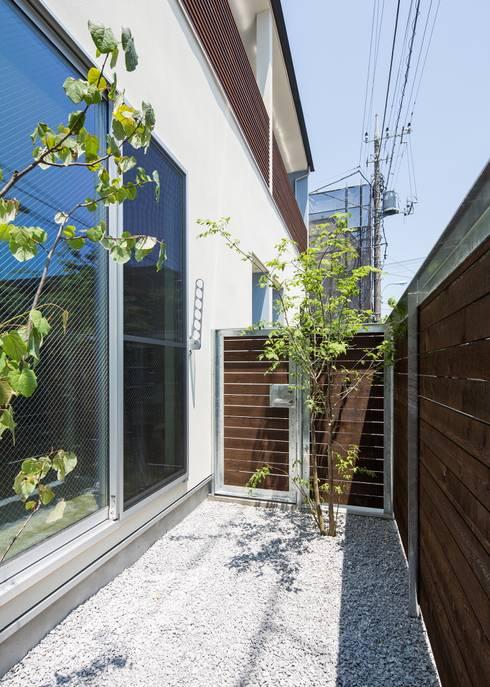 賃貸専用庭: Unico design一級建築士事務所が手掛けたベランダです。