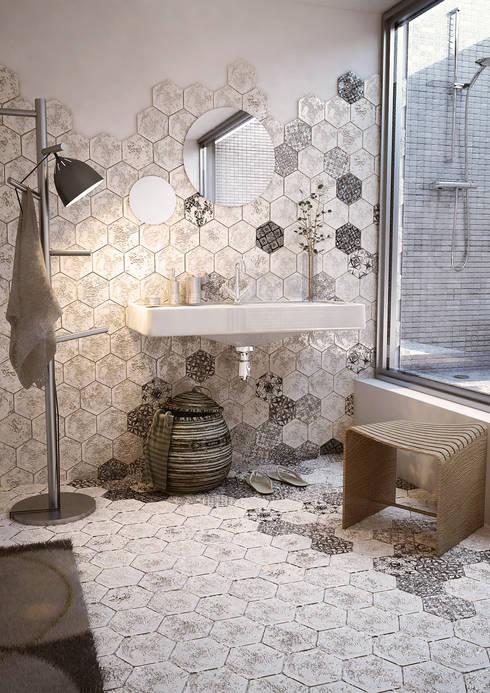 Argilla Bianca: Bagno in stile in stile Moderno di L'arte del cotto