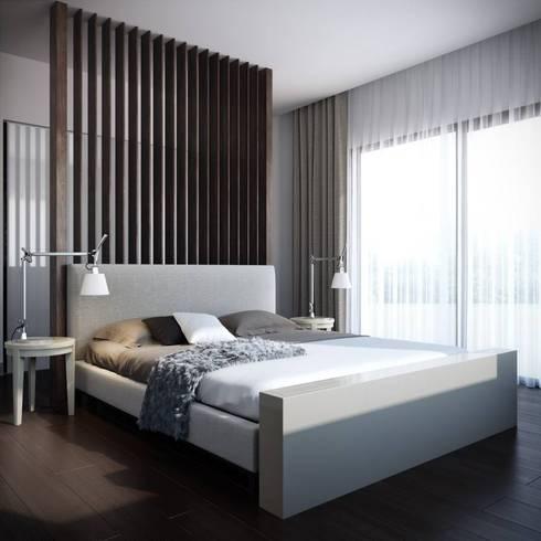 Detalles Interiores: Recámaras de estilo moderno por JS ARQUITECTURA