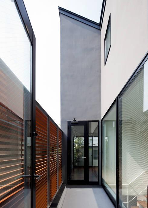 2階テラス: Unico design一級建築士事務所が手掛けたテラス・ベランダです。