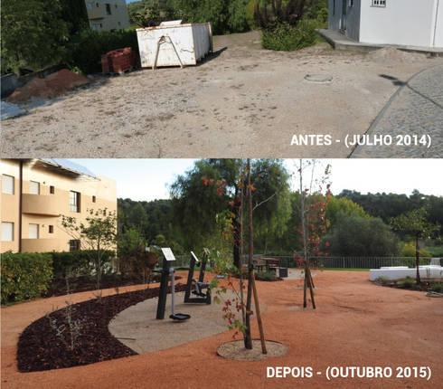 Antes e Depois: Jardins campestres por OpenGreen