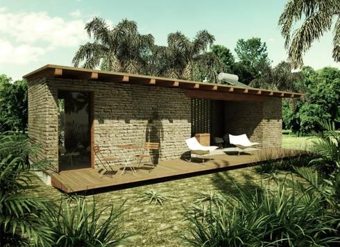 Cabaña: Casas de estilo rural por GET ARQUITECTURA