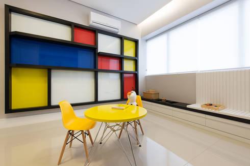 Clínica de Psicologia – Neo Super Quadra: Clínicas  por Saad.Ribeiro Arquitetura e Interiores