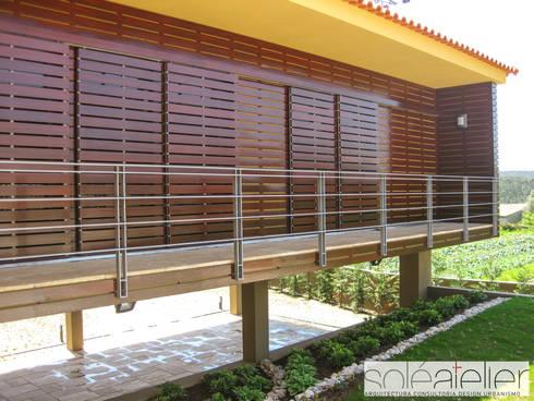 Casa de DÉM, Caminha: Casas rústicas por SOLE ATELIER, LDA
