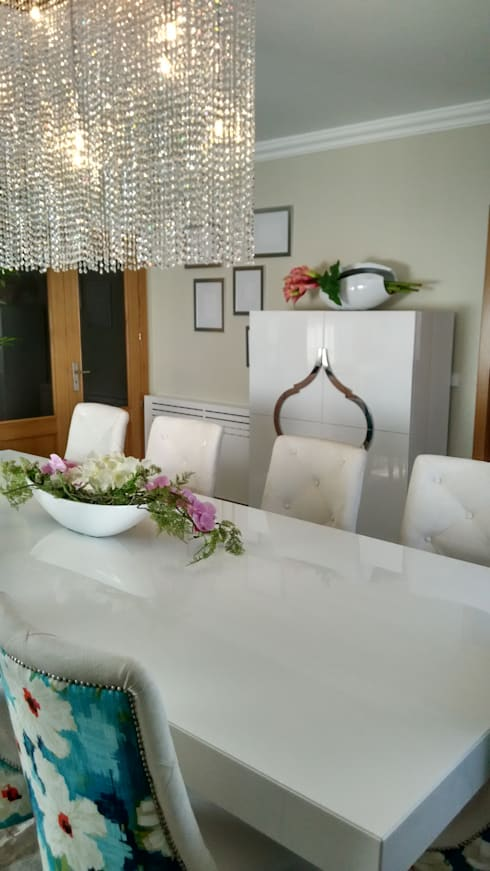modern Dining room by Andreia Louraço - Designer de Interiores (Contacto: atelier.andreialouraco@gmail.com)
