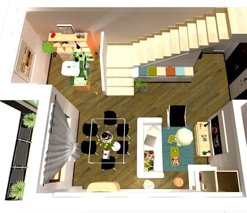 home staging soggiorno di 3d casa design homify. Black Bedroom Furniture Sets. Home Design Ideas
