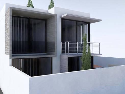 Casa PC: Casas de estilo moderno por DVR Arquitectos