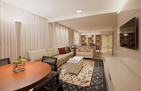 Apartamento Cidade Nova: Salas de estar modernas por Dubal Arquitetura e Design
