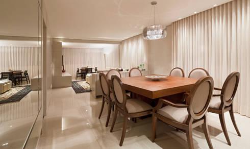 Apartamento Cidade Nova: Salas de jantar modernas por Dubal Arquitetura e Design