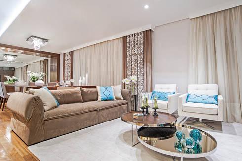 Living: Salas de estar modernas por Adriane Perotoni Arquitetura.Interiores