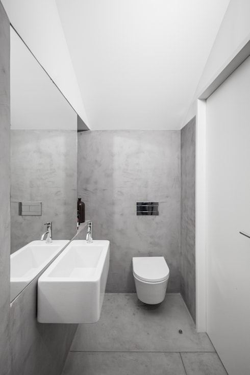 Casa DL: Casas de banho minimalistas por URBAstudios