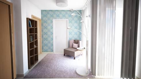 Projecto de Decoração - Suite - by Andreia Louraço Design e Interiores: Closets modernos por Andreia Louraço - Designer de Interiores (Contacto: atelier.andreialouraco@gmail.com)