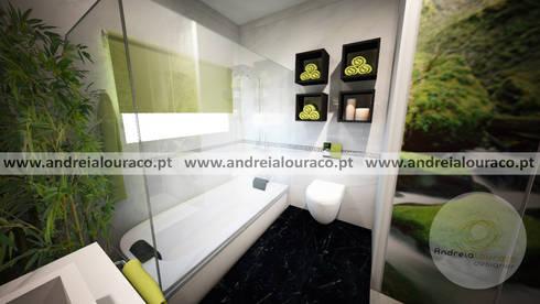 Projecto de Decoração de Wc by Andreia Louraço Design e Interiores: Casas de banho clássicas por Andreia Louraço - Designer de Interiores (Contacto: atelier.andreialouraco@gmail.com)