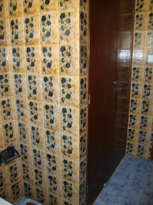 Projecto de Decoração de Wc by Andreia Louraço Design e Interiores:   por Andreia Louraço - Designer de Interiores (Contacto: atelier.andreialouraco@gmail.com)
