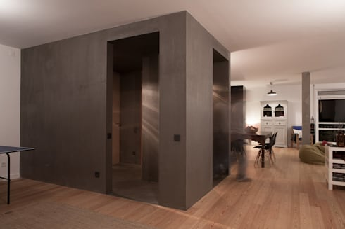 Apartamento BAC: Salas de estar modernas por URBAstudios