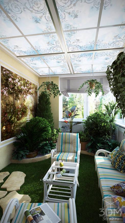 Jardins de inverno minimalistas por студия визуализации и дизайна интерьера '3dm2'