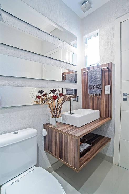 浴室 by Patrícia Azoni Arquitetura + Arte & Design