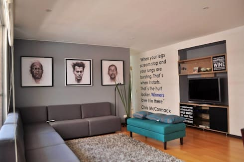 Apartamento torres de chico : Salas de estilo moderno por Davecube Design
