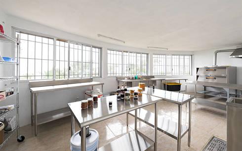 Centro de Producción de orgánicos Chilsec: Cocinas de estilo rústico por Komoni Arquitectos