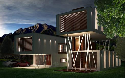 Casa La Calera: Casas de estilo minimalista por Vertice Oficina de Arquitectura