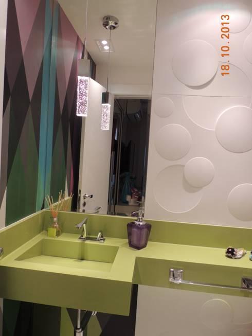 LAVABO: Banheiros modernos por Melanie Kiss Design de interiores