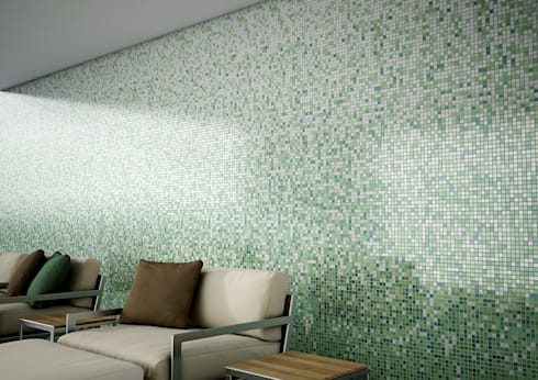 Lobby com Degradé COMO: Hotéis  por Elements Mosaic