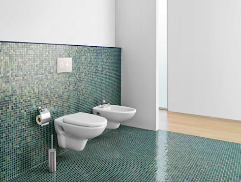 Sala de Banho com Fuoco FUJI: Casas de banho modernas por Elements Mosaic