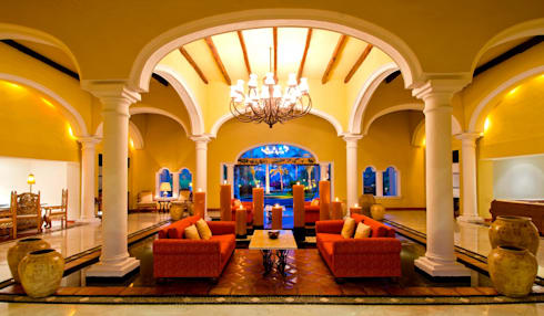 Lobby Casa Velas: Paisajismo de interiores de estilo  por MC Design