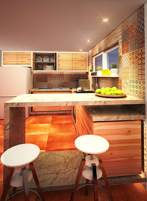 modern Kitchen by Rotoarquitectura